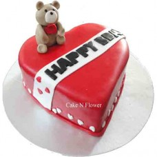 Red Heart shape cake